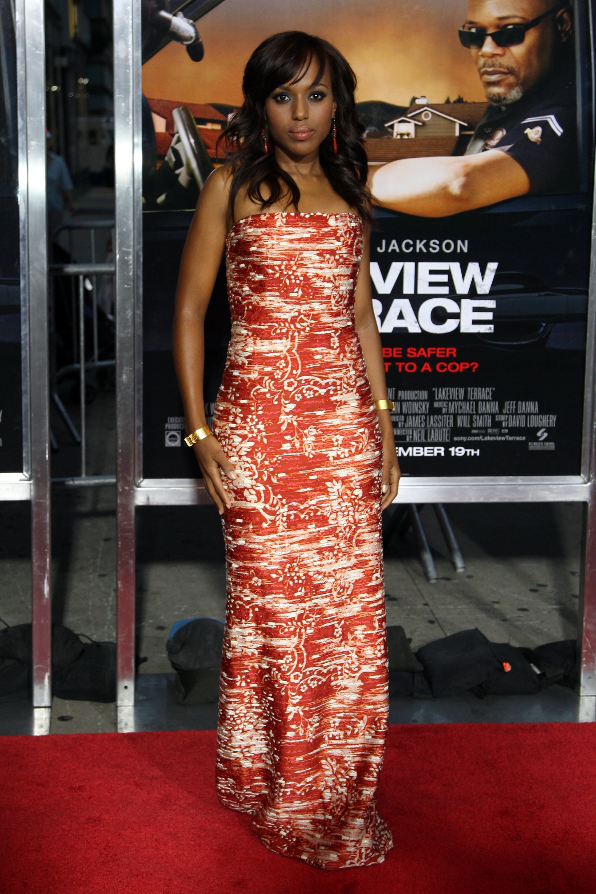 Kerry washington at the premiere of lakeview terrace in for Lakeview terrace 2008