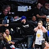 Adam Levine and Behati Prinsloo at Lakers Game November 2016