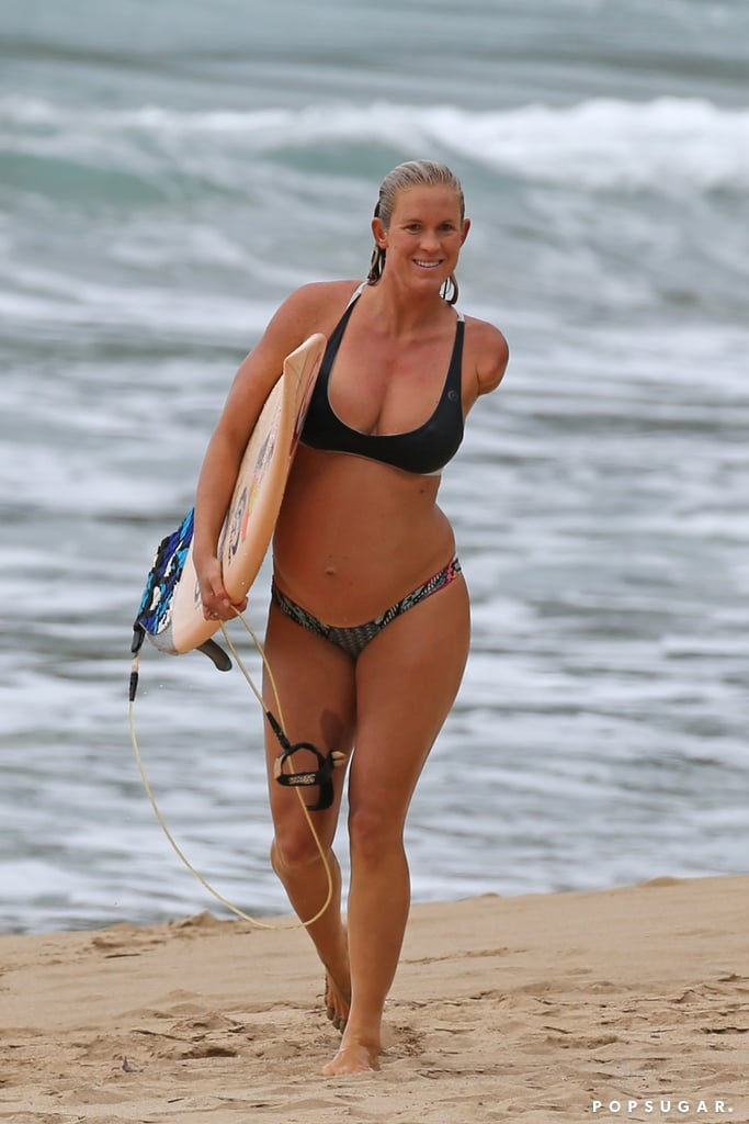 Pregnant Bethany Hamilton Surfing in a Bikini Pictures