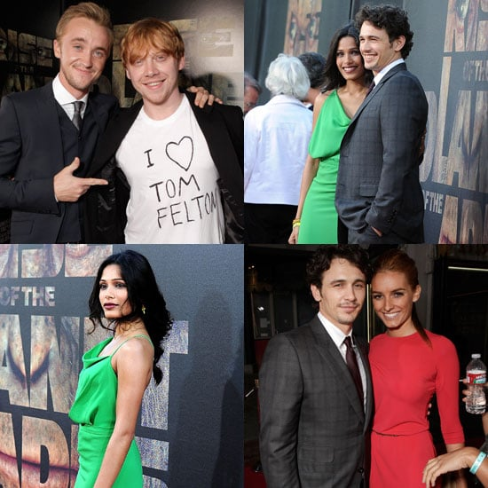 James Franco Has Freida Pinto, Tom Felton, and a Mystery Date by His Side For Rise of the Planet of the Apes
