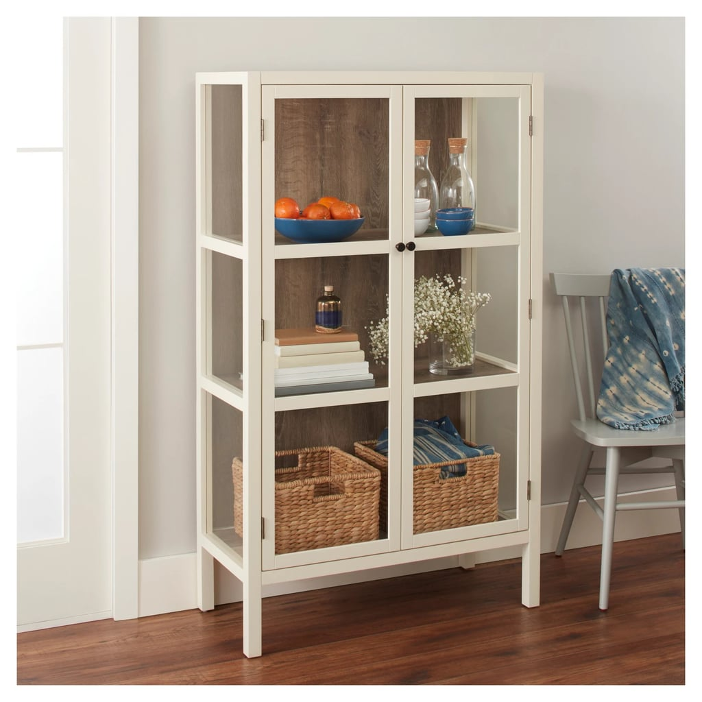 Threshold Hadley Library Cabinet with Glass Shell