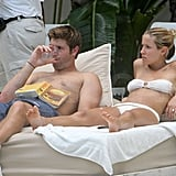Jay Cutler and Kristin Cavallari lounged by the water.