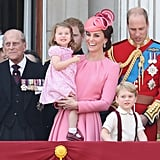 Kate Middleton Princess Charlotte Trooping the Colour 2017