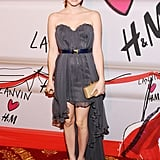 Emma chose a flirty high-low Topshop strapless for Lanvin's H&M runway show in 2010.
