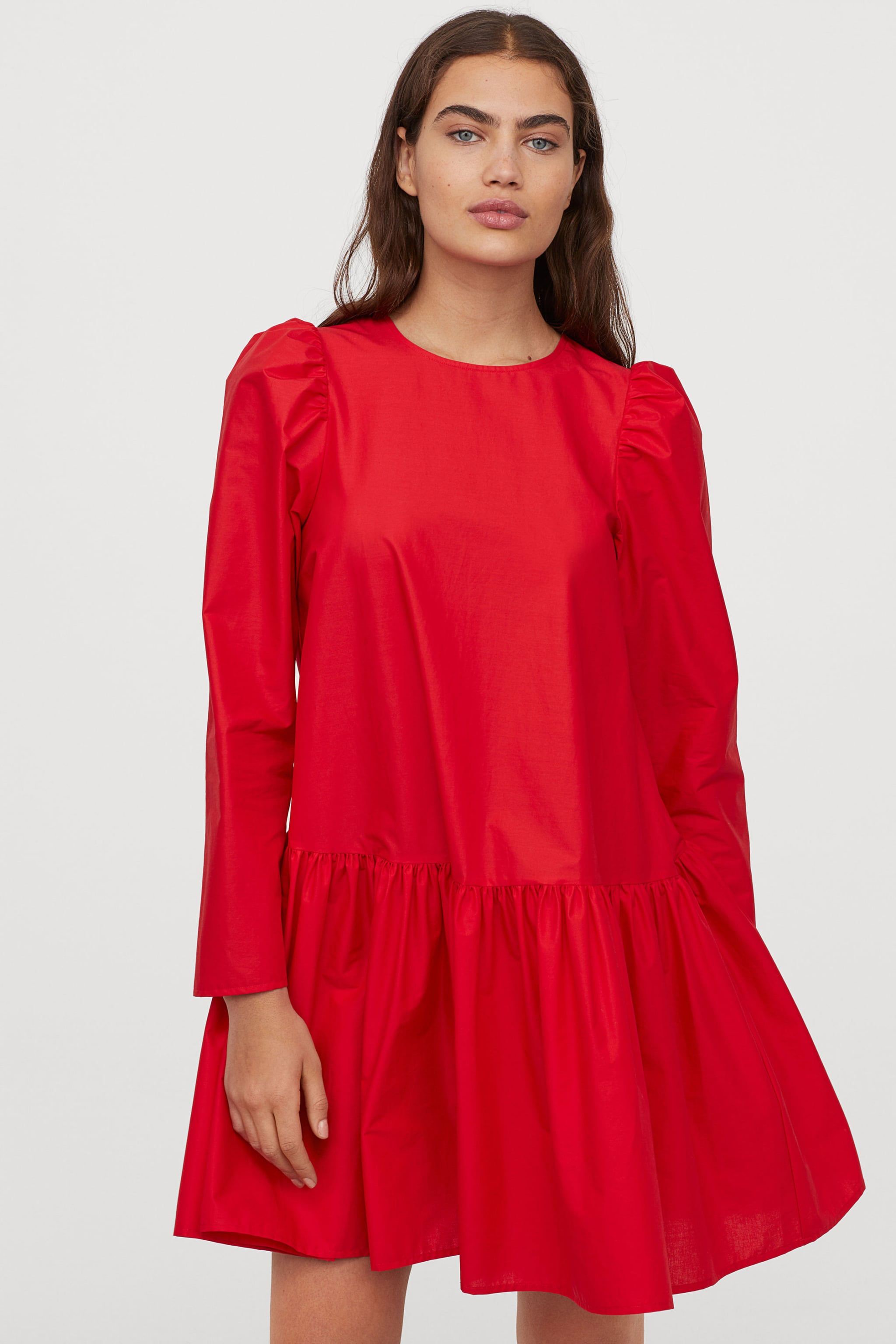 H&M Cotton Poplin Dress   The 20 Cutest Holiday Party Dresses ...