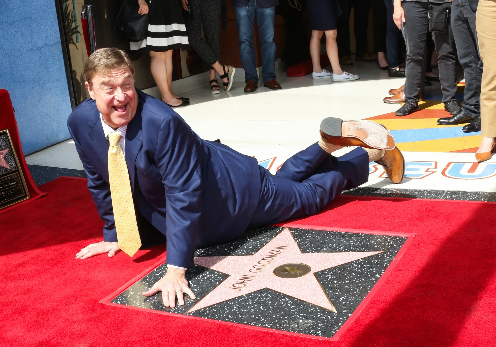 HOLLYWOOD, CA - MARCH 10:  Actor John Goodman is honored with a star on The Hollywood Walk of Fame on March 10, 2017 in Hollywood, California.  (Photo by Paul Archuleta/FilmMagic)