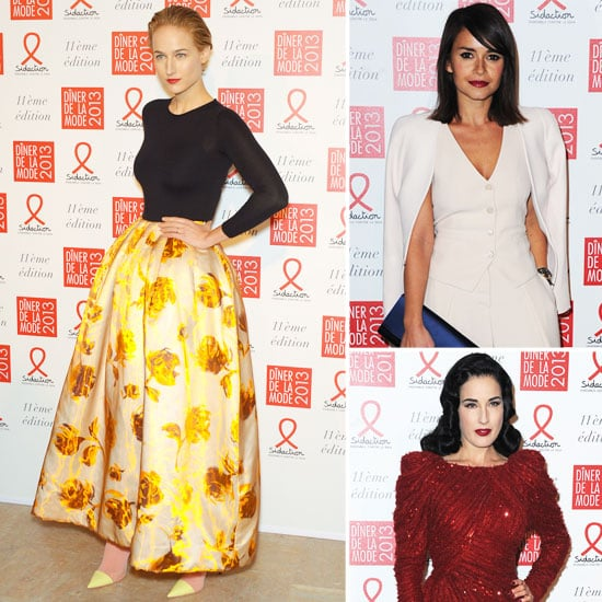 Leelee, Miroslava, and Dita Close Out Couture Week With Sidaction Gala