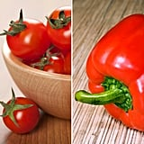 Tomatoes and Red Bell Peppers