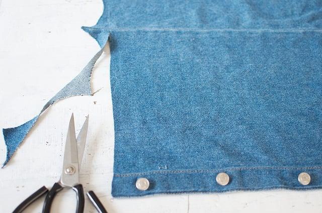DIY Front-Split Denim Skirt