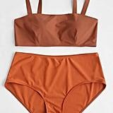 Zaful Padded Plus Size High Waisted Bikini Set