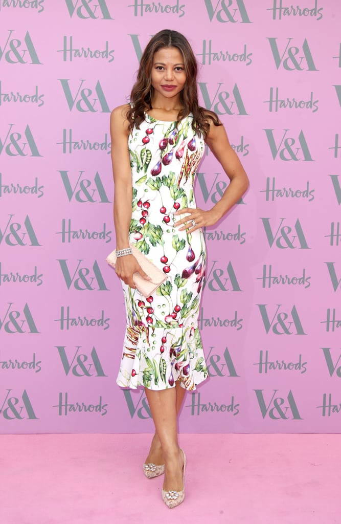 Florals made way for a veg print at the V&A Summer Party in 2018.