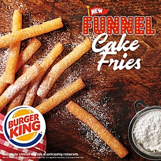 Burger King Funnel Cake Fries January 2019