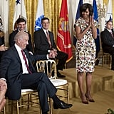 Wearing Thakoon for an event held in the East Room of the White House in April 2013.