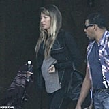 Gisele Bundchen showed her baby bump in Brazil.