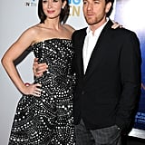 Emily Blunt and Ewan McGregor smiled for photos at their debut.