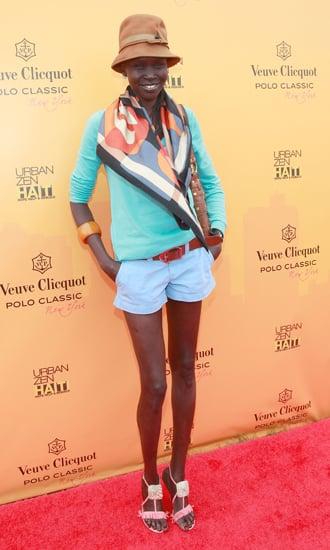 Alek Wek Wears Summer Colors