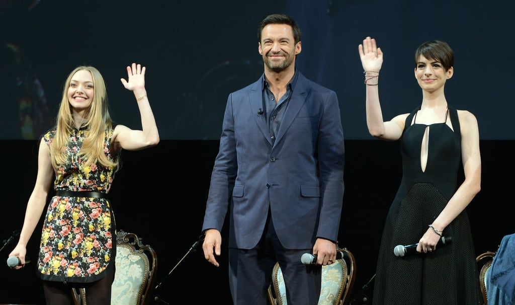 The cast of Les Mis waved to fans in Japan.