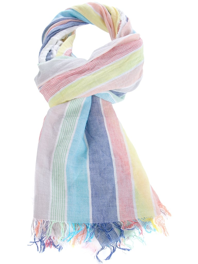 We couldn't resist the kaleidoscope effect paired with a subtle fringed hem — too cute. Opificio Tessile Sambin Rainbow Scarf ($80)