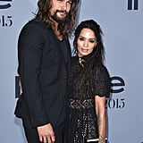 Jason Momoa and Lisa Bonet at the InStyle Awards in October 2015