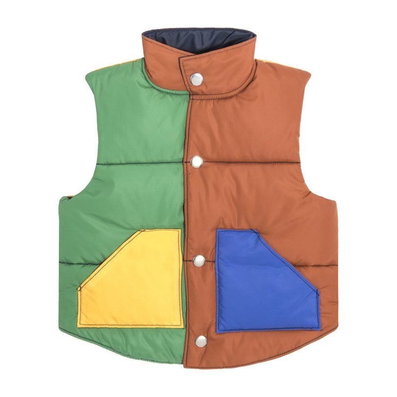 Emery Color Blocked-Puffer Vest
