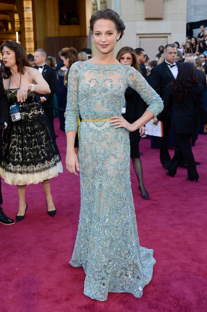 Wearing Elie Saab Couture to the 2013 Oscars in Hollywood, Alicia ...