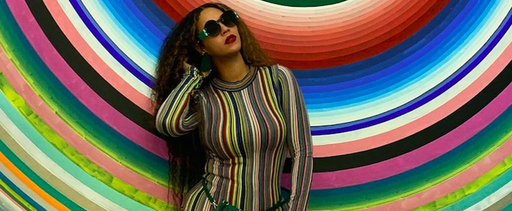 Beyoncé's Matching Striped Sweater and Pants Jan. 2019