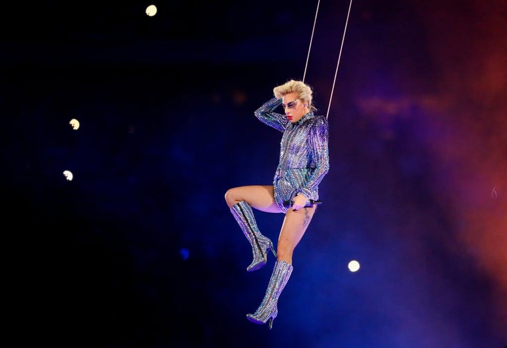 Lady Gaga's Versace Bedazzled Bodysuit
