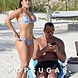 Jennifer Lopez Blue Bikini Bahamas March 2019