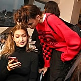 Gigi Spending Time With Kaia Backstage