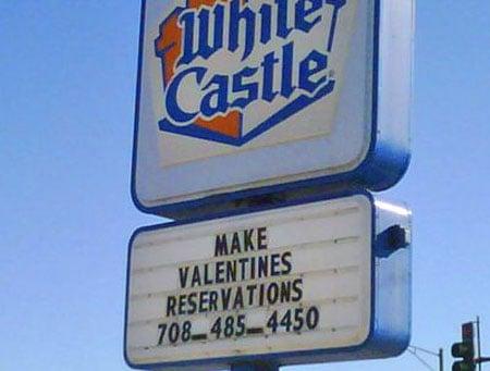 It's a White Castle Valentine's Day!