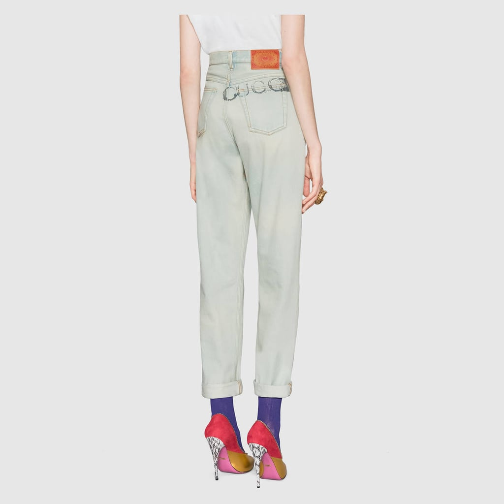 7ce30828315 Gucci 80s Stone Washed Denim Pants