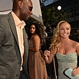 Hayden Panettiere and Lamar Odom shared a laugh on the red carpet.