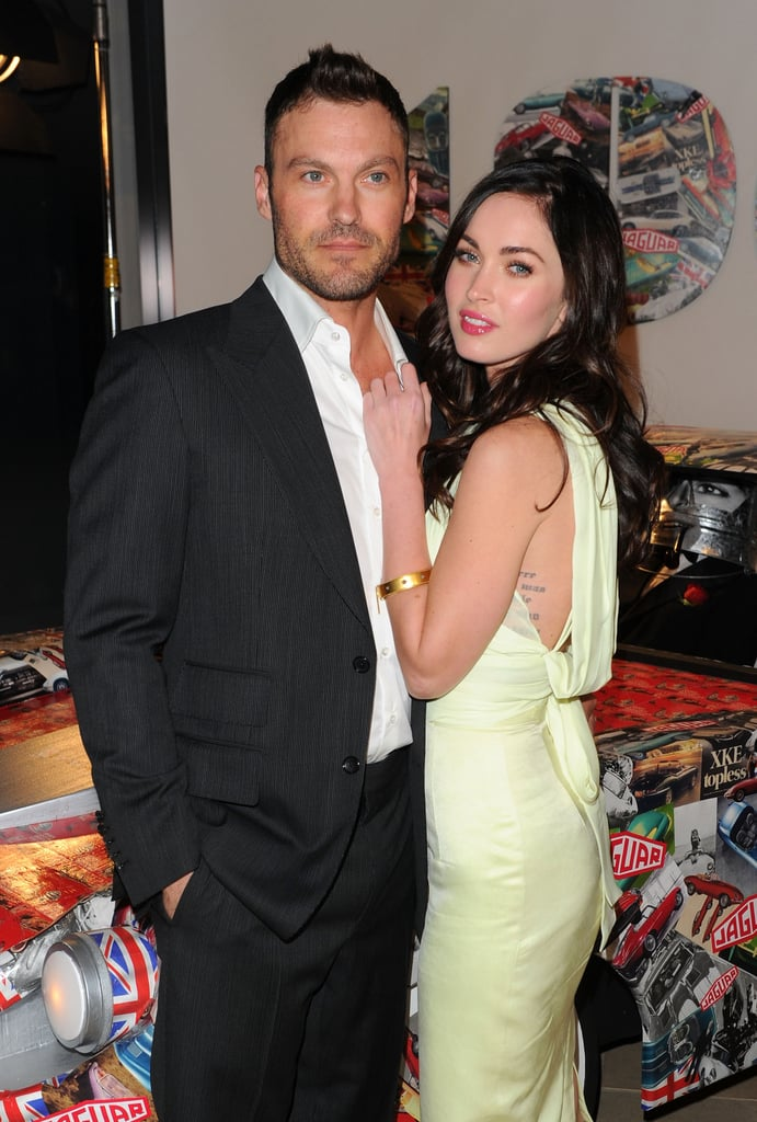 Megan couldn't keep her hands off Brian at a Jaguar event in NYC back in April 2011.