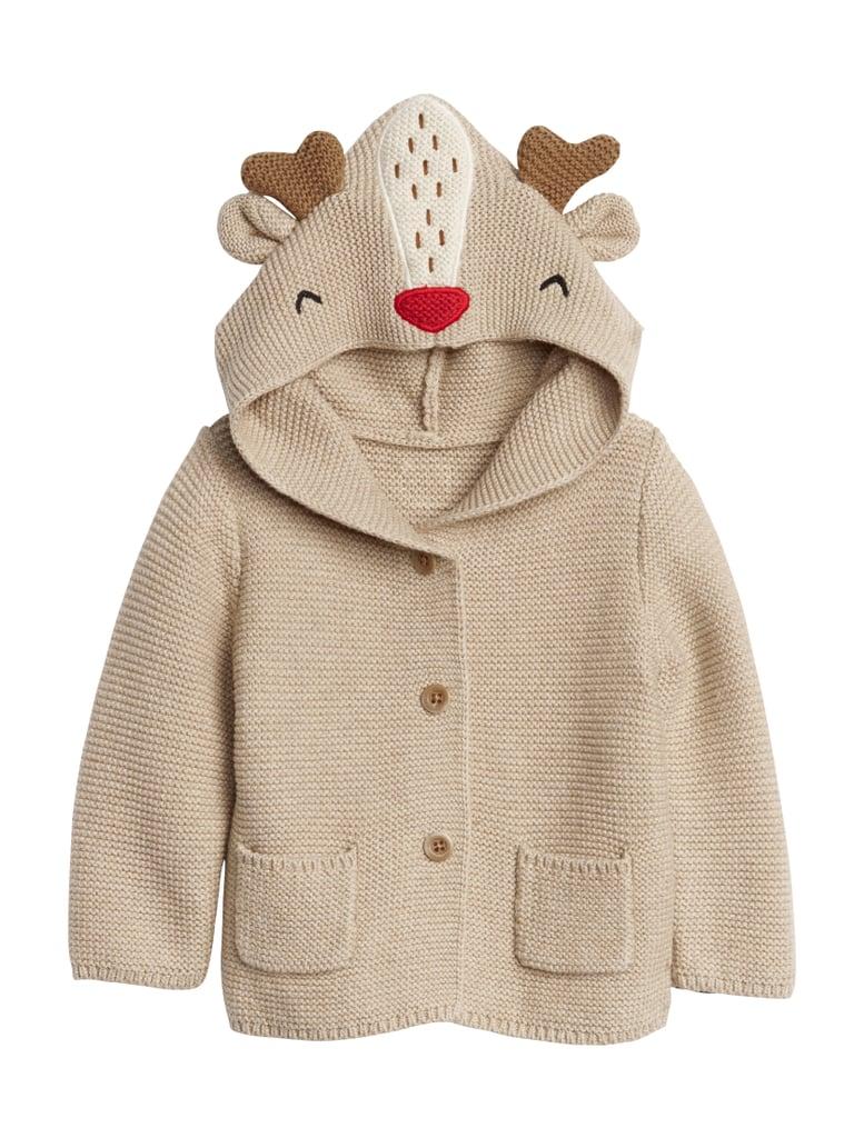 Kids Reindeer Hoodie Sweater