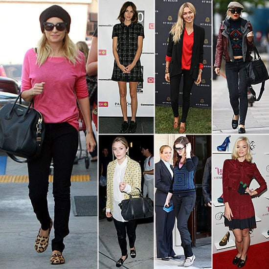 Celebrities Wearing Loafers Fall 2011