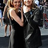 In June, Angelina Jolie and Brad Pitt shared a sweet moment at the London premiere of World War Z.