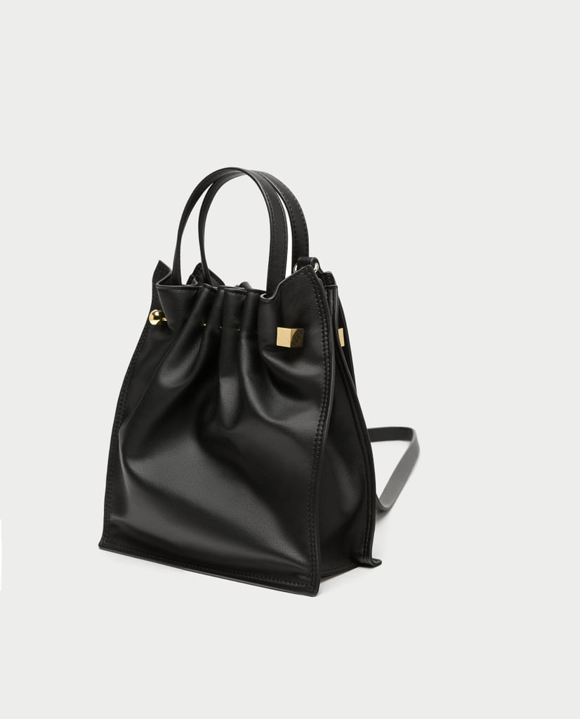 Zara Medium Tote Bag With Dowel