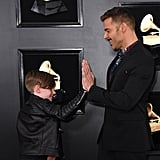 Ricky Martin and His Son at the 2019 Grammys