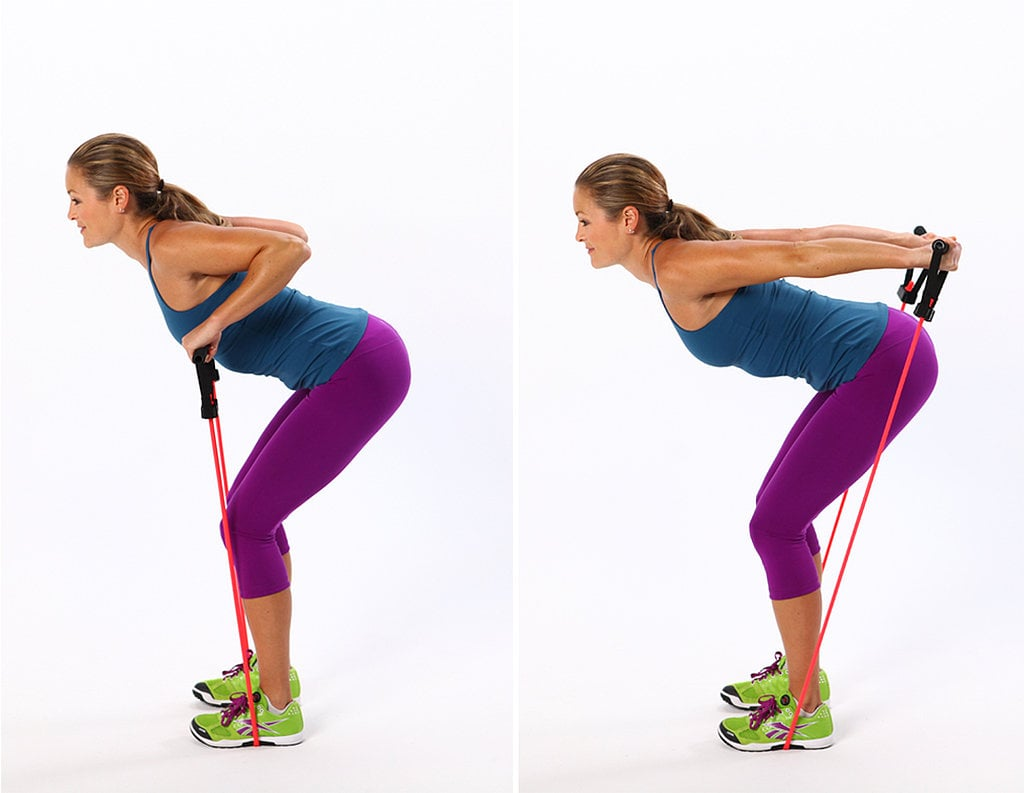 Triceps Press With Resistance Band