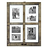 Windowpane Collage Frame Weathered Wood