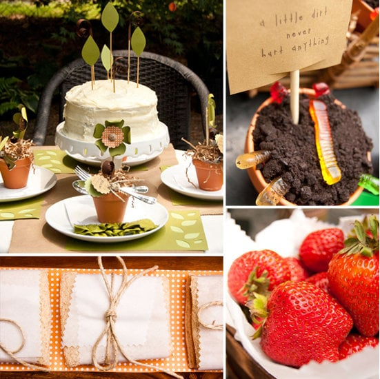 """Outdoor Summer Birthday Party Ideas: A Green-Minded """"Plant A Seed"""" Birthday Party"""
