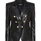 Balmain Double Breasted Leather Jacket