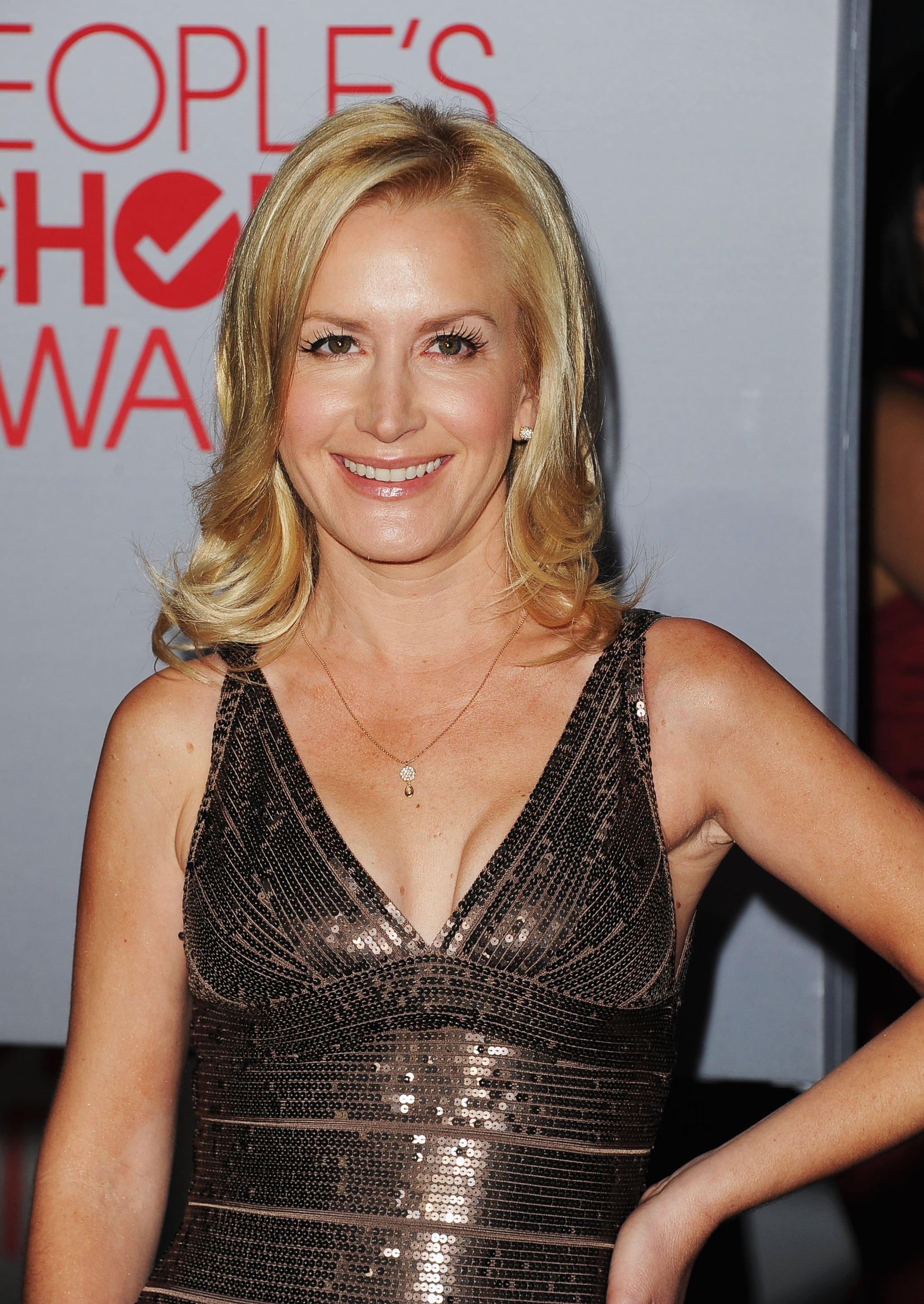 Angela Kinsey at an award show.
