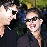 Julia and actor Rupert Everett were a match at the Blockbuster Awards in 1998.