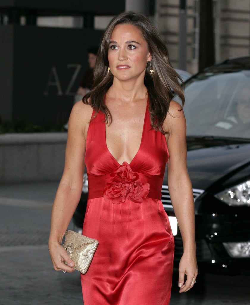 Pippa Middleton in a low-cut gown.