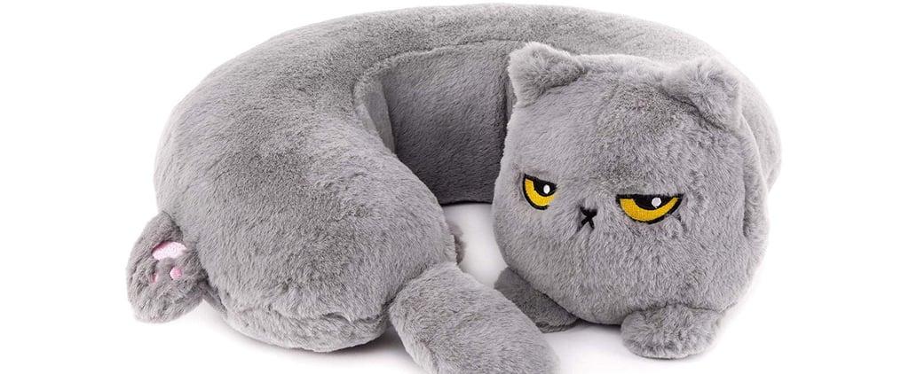 Heated Grumpy Cat Neck Pillow