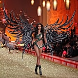 For her debut in 2010, she wore this insane feather piece.