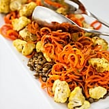 Curried Cauliflower and Lentil Salad With Carrot Noodles