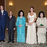 Kate Middleton in a Gown at Malaysian Reception | Pictures