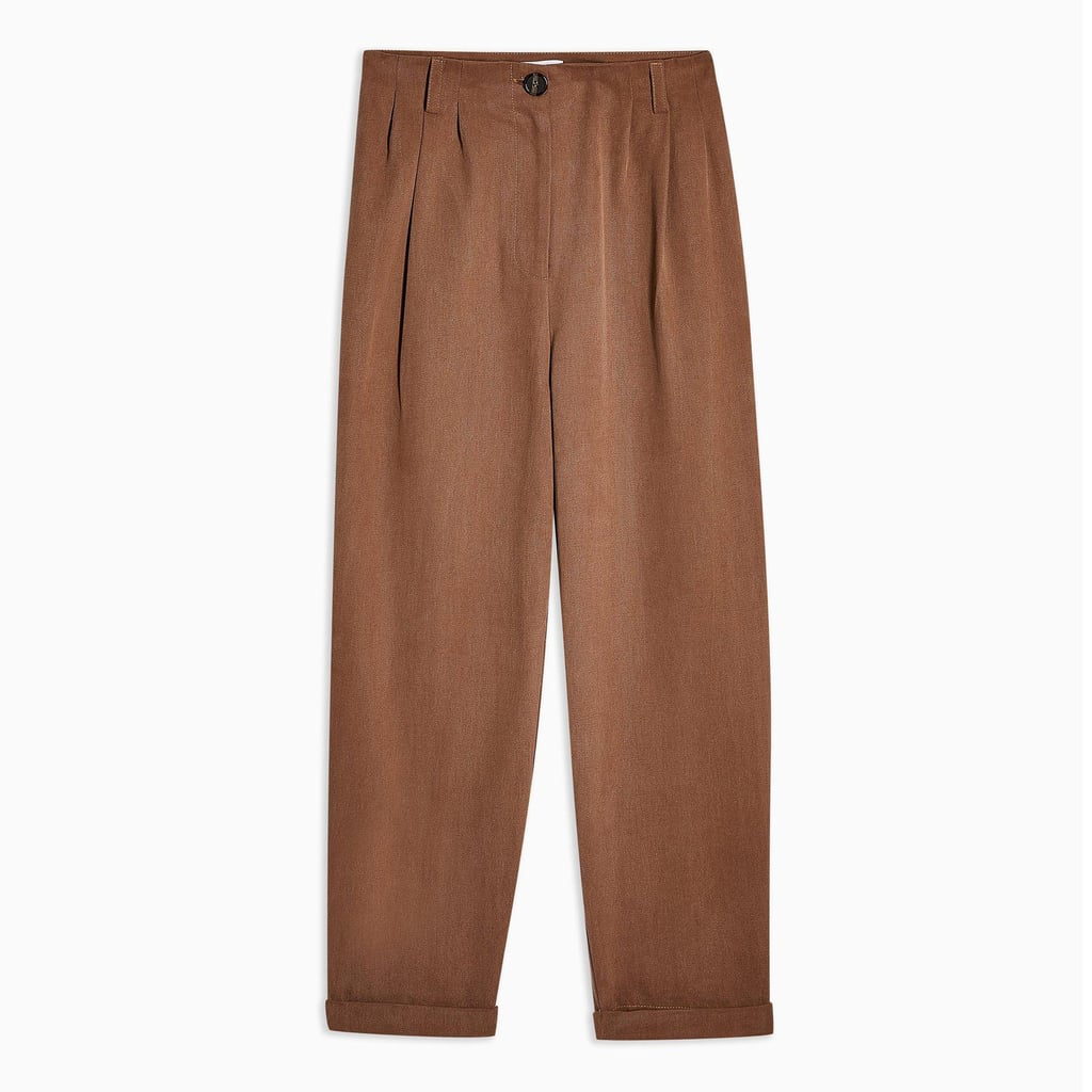 Topshop Pleated High Waist Trousers